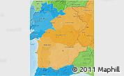 Political Shades 3D Map of Alentejo
