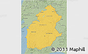 Savanna Style 3D Map of Alentejo