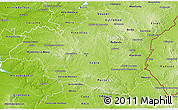 Physical 3D Map of Alentejo Central