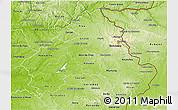 Physical 3D Map of Alto Alentejo