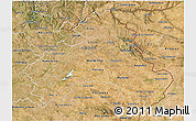 Satellite 3D Map of Alto Alentejo