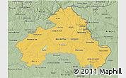 Savanna Style 3D Map of Alto Alentejo