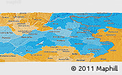 Political Shades Panoramic Map of Alto Alentejo