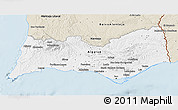 Classic Style 3D Map of Algarve
