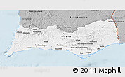 Gray 3D Map of Algarve