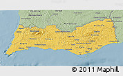 Savanna Style 3D Map of Algarve