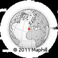 Outline Map of Albufeira