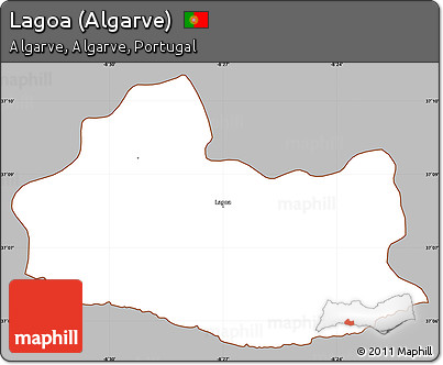 Worksheet. Free Gray Simple Map of Lagoa Algarve cropped outside