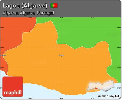 Worksheet. Free Political Simple Map of Lagoa Algarve