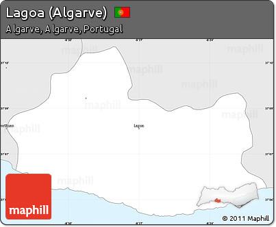 Worksheet. Free Silver Style Simple Map of Lagoa Algarve