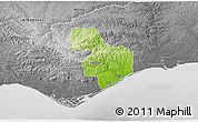 Physical 3D Map of Tavira, desaturated