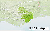 Physical 3D Map of Tavira, lighten