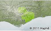 Physical 3D Map of Tavira, semi-desaturated