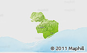 Physical 3D Map of Tavira, single color outside