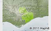 Physical Map of Tavira, semi-desaturated