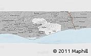 Gray Panoramic Map of Tavira