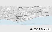 Silver Style Panoramic Map of Tavira