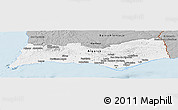 Gray Panoramic Map of Algarve