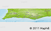 Physical Panoramic Map of Algarve