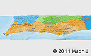 Political Panoramic Map of Algarve