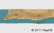 Satellite Panoramic Map of Algarve