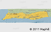Savanna Style Panoramic Map of Algarve