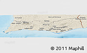 Shaded Relief Panoramic Map of Algarve