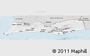 Silver Style Panoramic Map of Algarve
