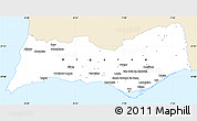 Classic Style Simple Map of Algarve, single color outside