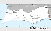 Gray Simple Map of Algarve