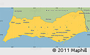 Savanna Style Simple Map of Algarve