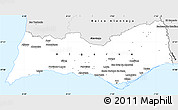Silver Style Simple Map of Algarve