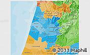 Political Shades 3D Map of Baixo Vouga