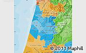 Political Shades Map of Baixo Vouga