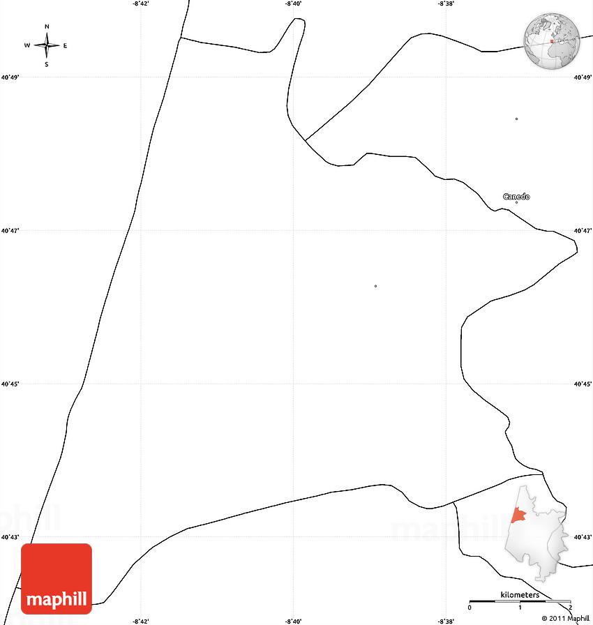 Blank Simple Map Of Murtosa: Murtosa Portugal Map At Slyspyder.com