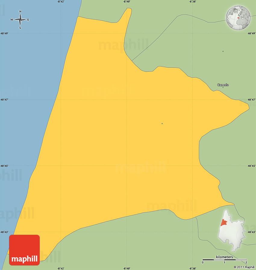 Savanna Style Simple Map Of Murtosa: Murtosa Portugal Map At Slyspyder.com