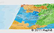 Political Shades Panoramic Map of Baixo Vouga