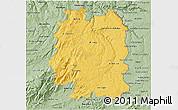 Savanna Style 3D Map of Beira Interior Norte