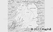 Silver Style 3D Map of Beira Interior Norte