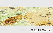 Physical Panoramic Map of Guarda