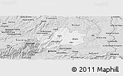 Silver Style Panoramic Map of Guarda