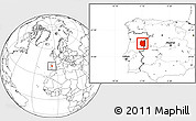 Blank Location Map of Beira Interior Norte