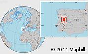 Gray Location Map of Beira Interior Norte