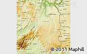 Physical Map of Beira Interior Norte