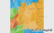 Political Shades Map of Beira Interior Norte