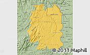 Savanna Style Map of Beira Interior Norte