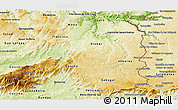 Physical Panoramic Map of Beira Interior Norte