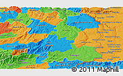 Political Panoramic Map of Beira Interior Norte