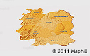 Political Shades Panoramic Map of Beira Interior Norte, cropped outside