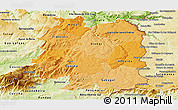 Political Shades Panoramic Map of Beira Interior Norte, physical outside